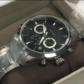 聖誕禮物 ESPRIT Men Black Dial Chronograph Watch ES107981003