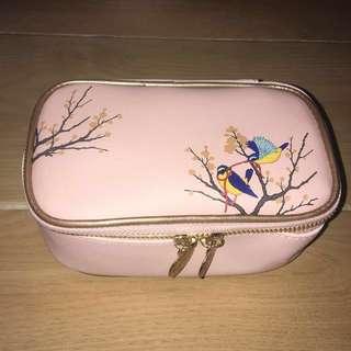(包郵) 雪花秀 化妝袋 化妝品 袋 Sulwhasoo makeup bag 粉紅色 小鳥 花 pink birds flower