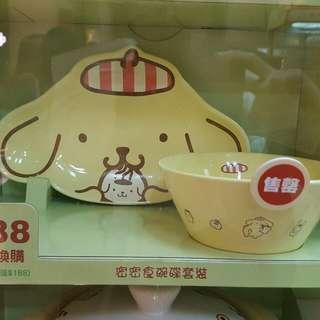Pompompurin鴻福堂碗碟套裝