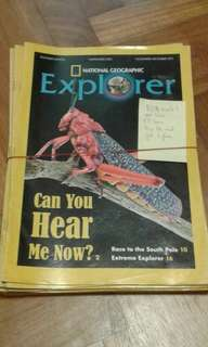 National Geographic Explorer ($1 each, buy all 17 books get 1 free = $16)