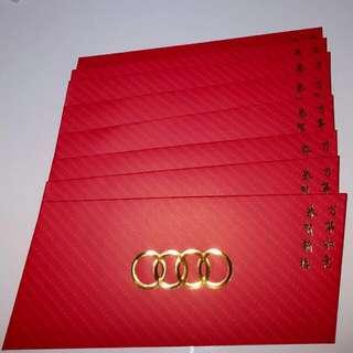 8 pcs Audi Exclusive Big Red Packet / Ang Pow Pao Pau Bao / Sampul Duit