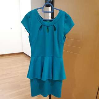 Green dress for workwear