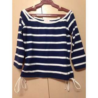Stripes longsleeve crop