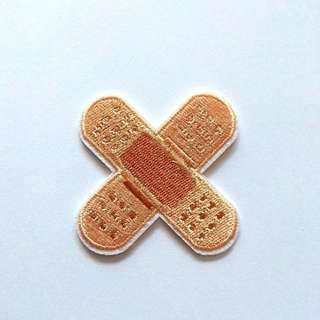 Cute Plaster Double Bandage Iron On Patch