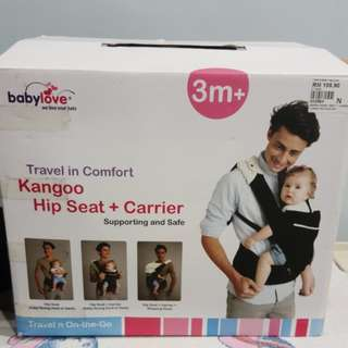 Baby carrier + hip seat