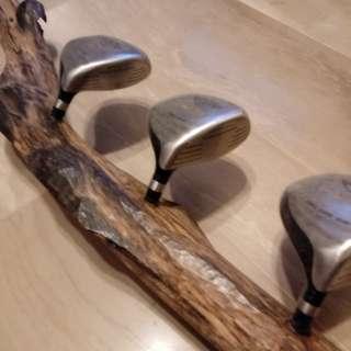 Creative coat hanger- agar wood & golf club