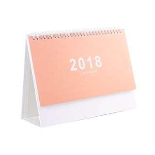 Desk Calendar (Peach, Pink)