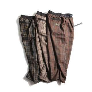 東區FRANK'S日本特進~日本正切 格子褲 針織 毛呢 水洗 繡標 哈倫褲 小直筒 休閒棉褲 哈倫褲 保暖 中性