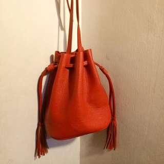 Red Bucket Bag H&M