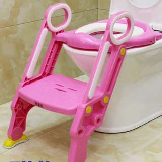 🚚 兒童馬桶座/寬踏板、粗腳架/幼童階梯馬桶座粗腳架/學習便器/馬桶輔助器