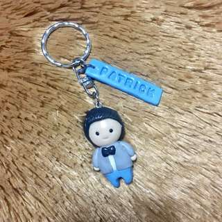 Chibi Keychain with stamped Name