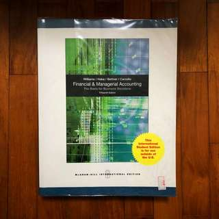 Financial and Managerial Accounting International Edition