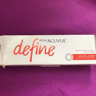 1 day acuvue define contact lenses