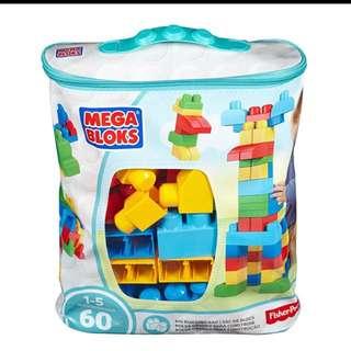 Mega Bloks DCH55 Classic Buildable Bag (60pcs)