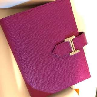 Hermes Bearn Compact Wallet 銀包lindy kelly birkin