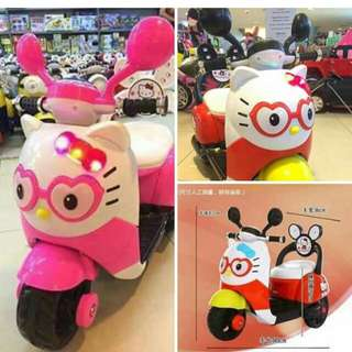 chargeable motor for kids kitty