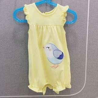 Carter's Romper baby yellow colour wth cute bird