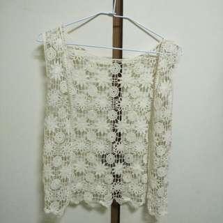 🚚 針織鏤空雕花套衫 罩衫#舊愛換新歡#有超取最好買