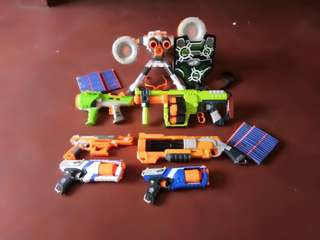 Take all nerf guns and accesories