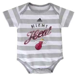 Authentic Adidas Onesies (Miami Heat   Stripes)