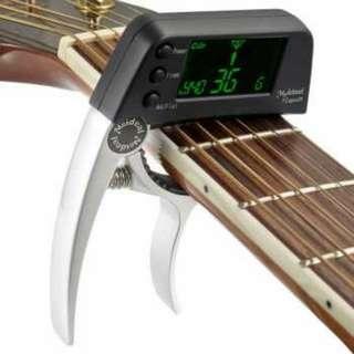 Tuner Gitar dengan Display LCD