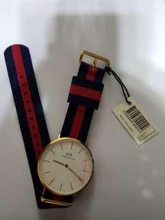DW 正貨錶Oxford 玫瑰金尼龍帶