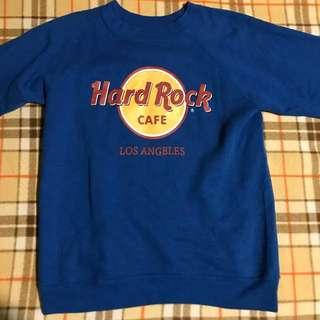 🚚 Hard rock 古著 衛衣 藍色