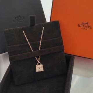 Hermes Kelly diamond necklace