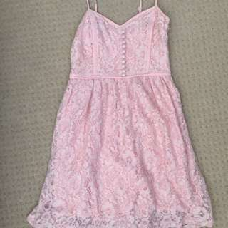 Ally Baby Pink Lace Dress