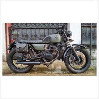 Honda CB 100 (1980) Kustom Vintage Army Woodland