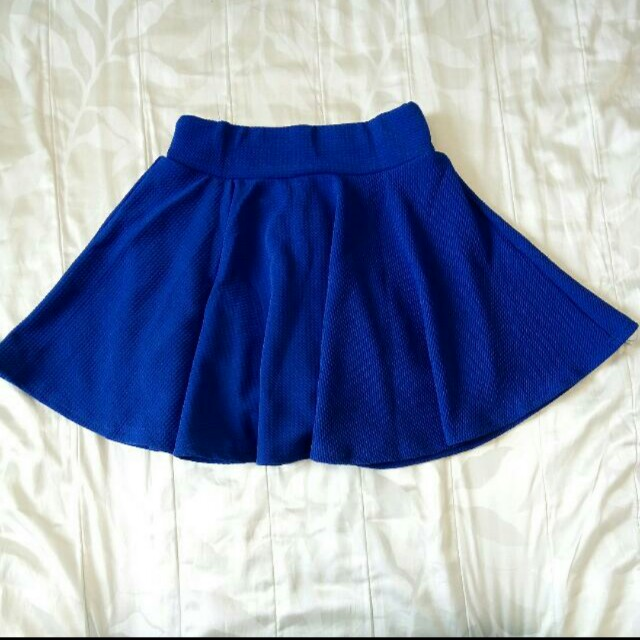 ✨全新現貨🎉寶藍色百搭實穿甜美褲裙