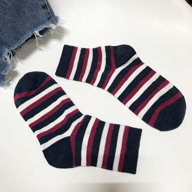 全新韓國製條紋襪子
