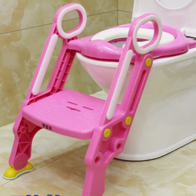 兒童馬桶座/寬踏板、粗腳架/幼童階梯馬桶座粗腳架/學習便器/馬桶輔助器