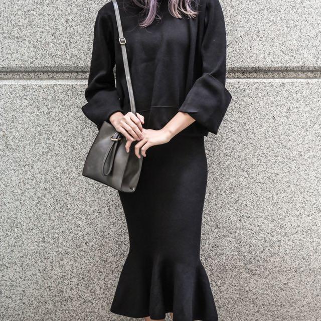 韓國 兩用 側背包 肩背包 手提包 兩色