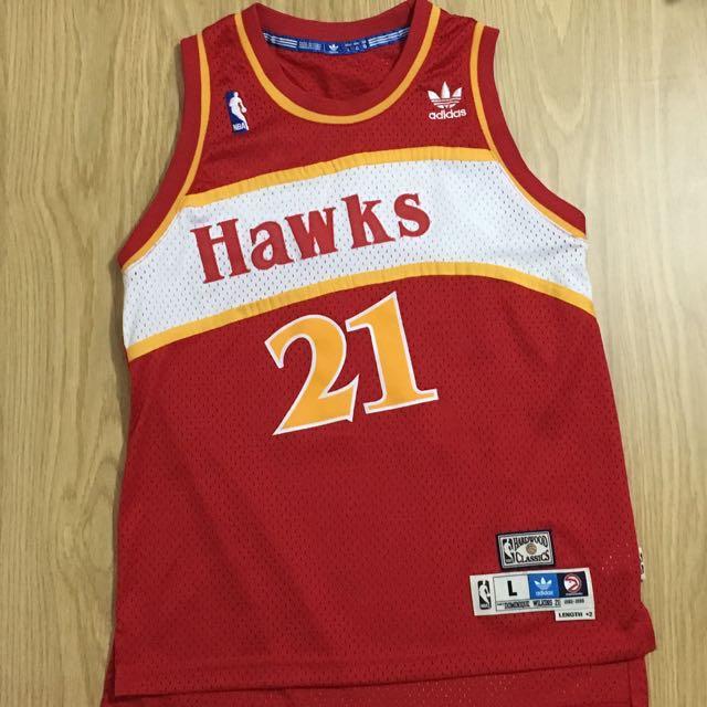 《下殺》Adidas NBA 老鷹 復古球衣 Wilkins