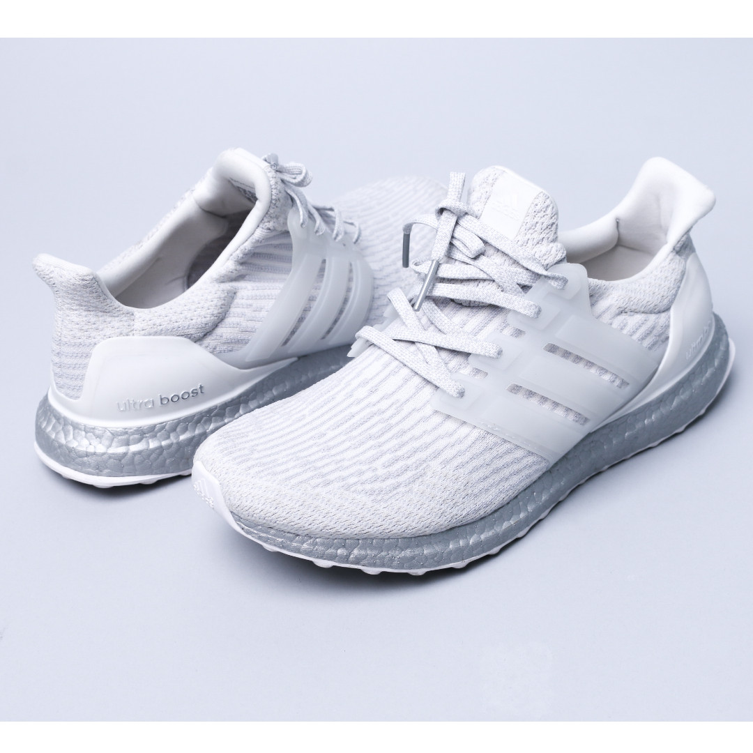 adidas Ultra Boost 3.0 White Silver (SZ 42.5) Ori 100% [Used 1x pakai]