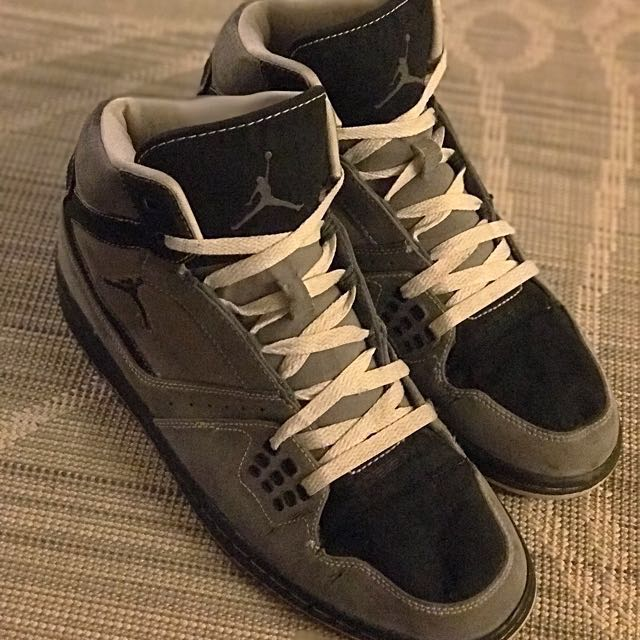 brand new 52fd2 d1323 Air Jordan 1 flight high - Light graphite Black-stealth, Men s ...