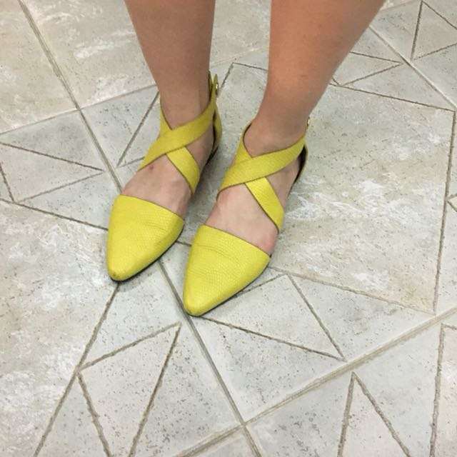 Alexandra Wang Yellow Sandles