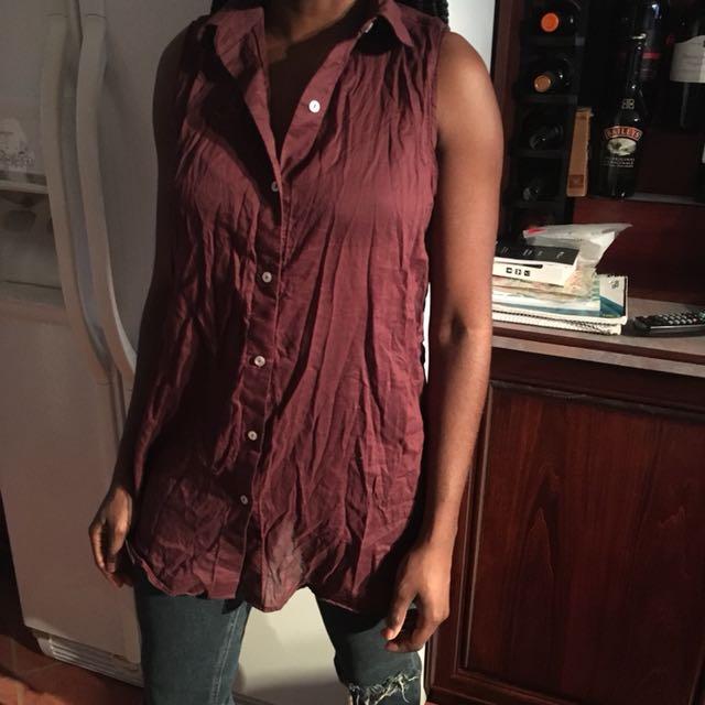 American apparel burgundy top