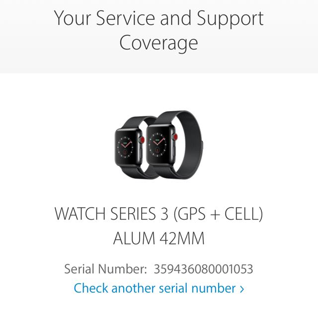 APPLE WATCH 42MM SILVER WITH LTE AND CELLULAR