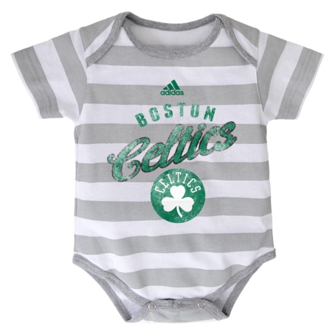Authentic Adidas Onesies (Boston Celtics | Stripes)