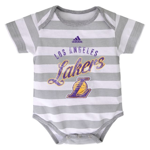 Authentic Adidas Onesies (LA Lakers | Stripes)