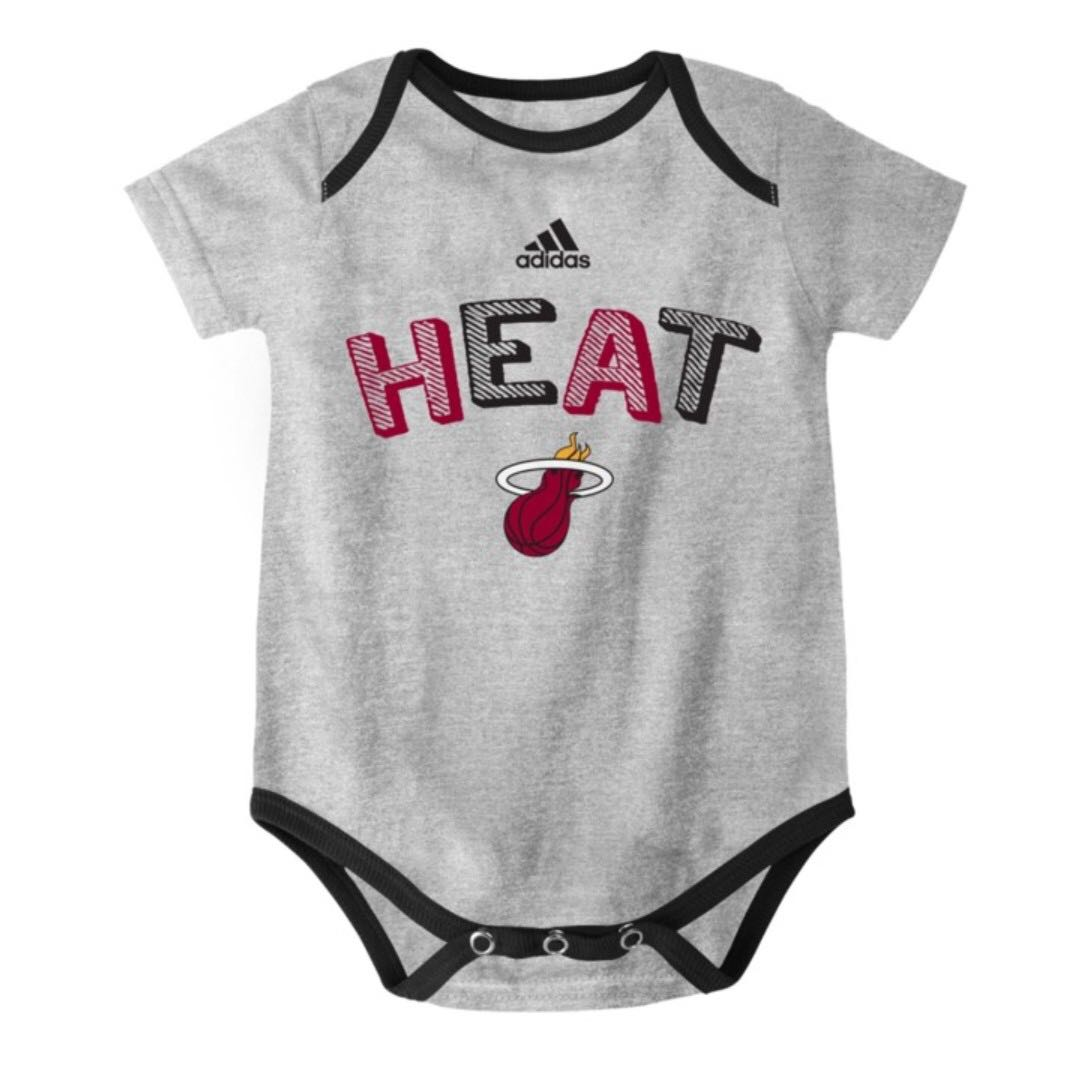 Authentic Adidas Onesies (Miami Heat | Gray)