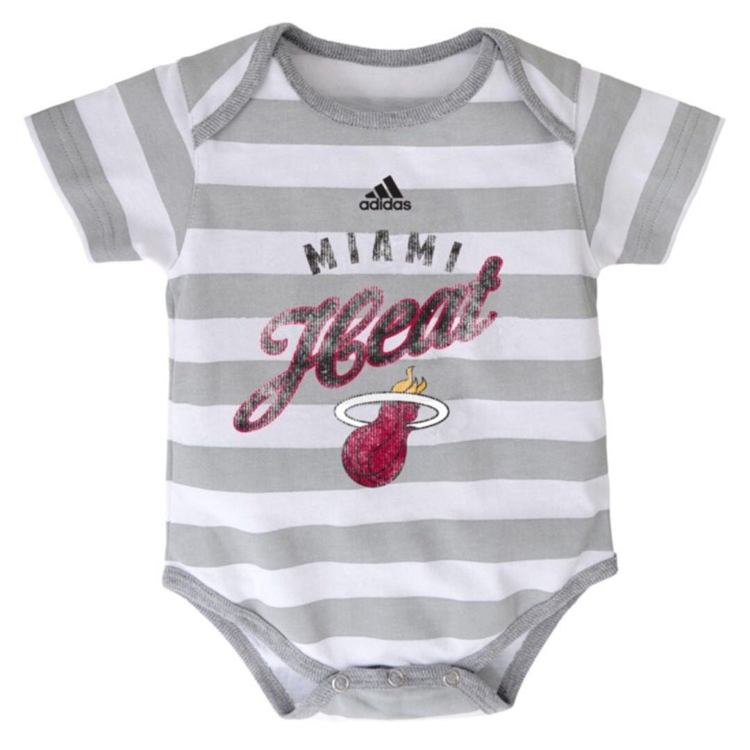 Authentic Adidas Onesies (Miami Heat | Stripes)