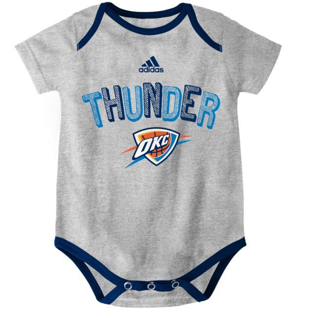 Authentic Adidas Onesies (OKC Thunder | Gray)