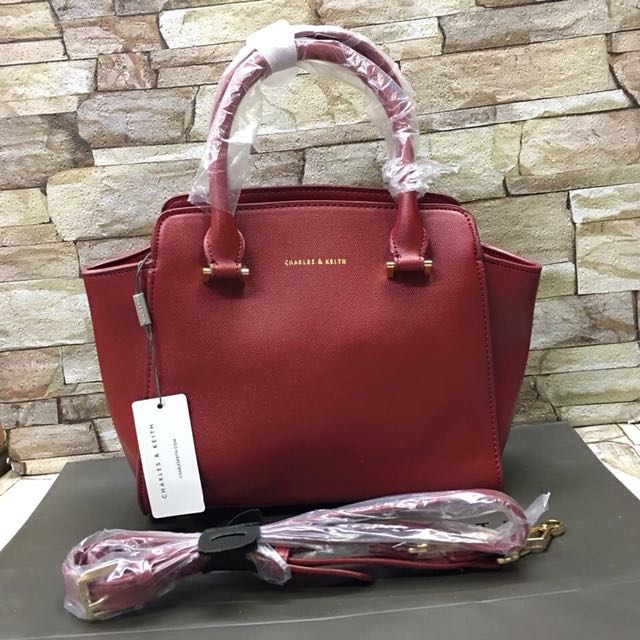 Authentic Charles & Keith Trapeze Handbag