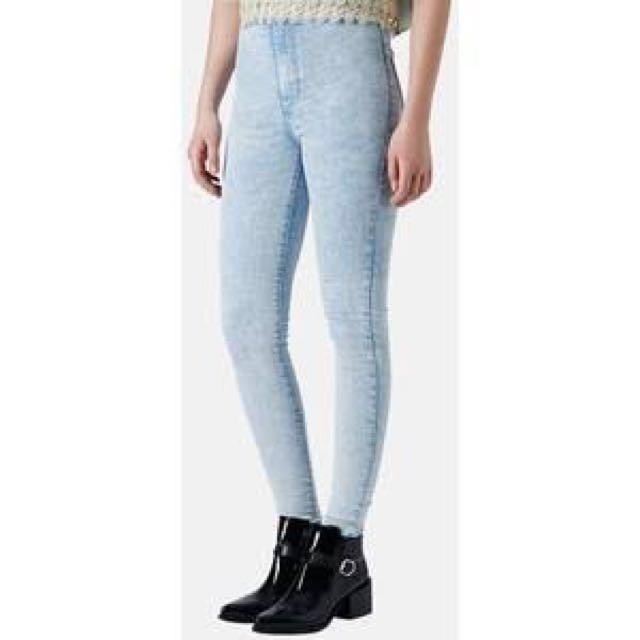 Authentic Topshop Moto Acid Wash Joni Jeans