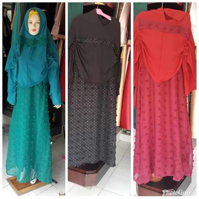 Baju muslim ada 3 warna