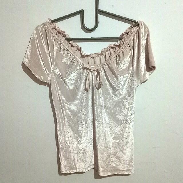 Baju Top Velvet