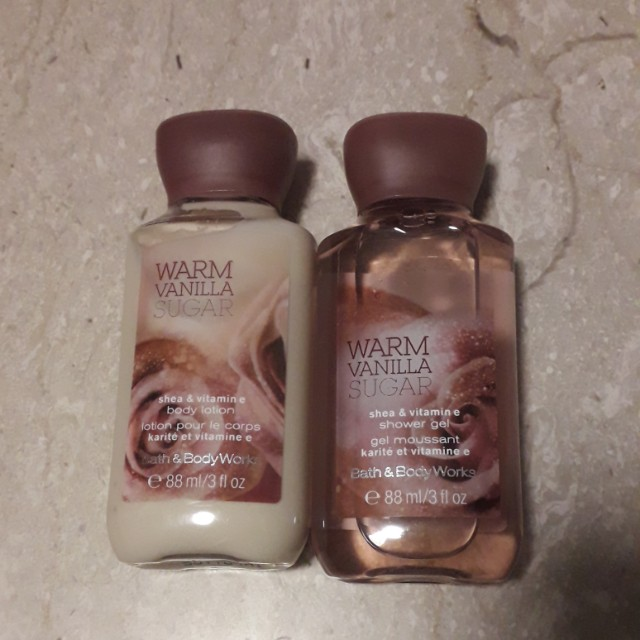 Bath & Body Works Warm Vanilla Sugar, Health & Beauty, Bath & Body on Carousell